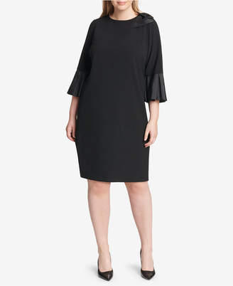 Jessica Howard Plus Size Bow-Detail Sheath Dress