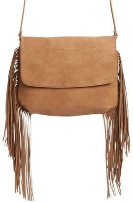 Emperia Maya Fringe Faux Leather Crossbody Bag