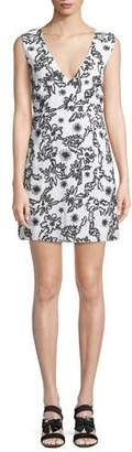 Rachel Zoe Shari Squiggle Sleeveless Mini Dress