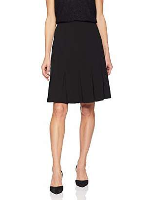Nine West Women's Crepe Pleated Flare Skirt