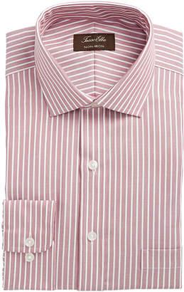 Tasso Elba Men's Classic/Regular Fit Non-Iron Twill Bar Stripe Dress Shirt