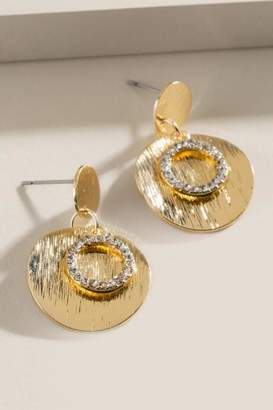 francesca's Haven Circle Drop Earrings - Gold