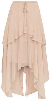 BCBGMAXAZRIA Handkerchief Midi Skirt