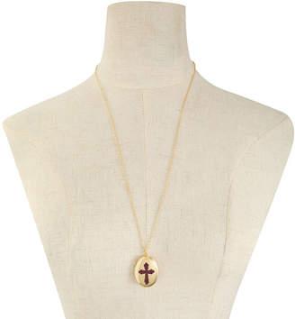 Liz Claiborne Womens Purple Locket Necklace