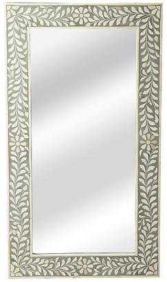 """One Kings Lane Bone 20""""x36"""" Inlay Wall Mirror - Gray"""