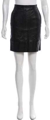 Celine Leather Mini Skirt w/ Tags
