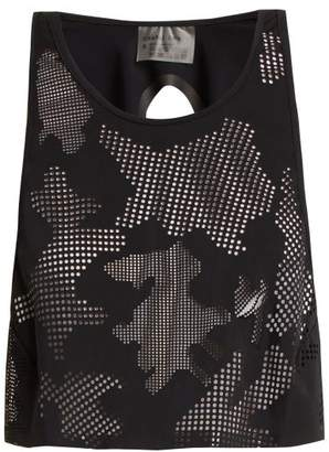Charli cohen Cohen - Lumen Perforated Front Jersey Cropped Top - Womens - Black
