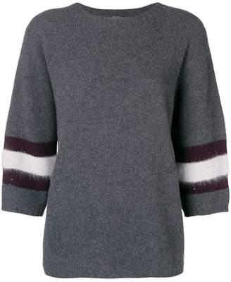 Lorena Antoniazzi contrasting band sweater