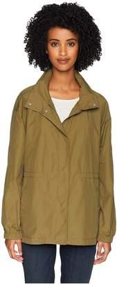 Eileen Fisher Light Organic Cotton Stand Collar Jacket Women's Coat