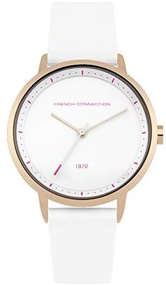 French Connection Women's Quartz Metal and Silicone Casual Watch