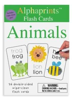 Macmillan Alphaprints: Wipe Clean Flash Cards Animals