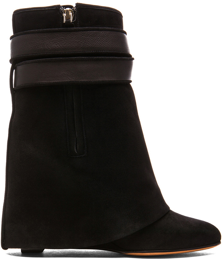 Givenchy Shark Lock Suede Boots