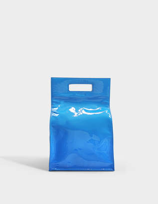 Helmut Lang Lunch Bag in Ice Blue Patent Leather
