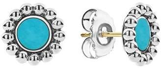 Lagos Sterling Silver Maya Turquoise Stud Earrings