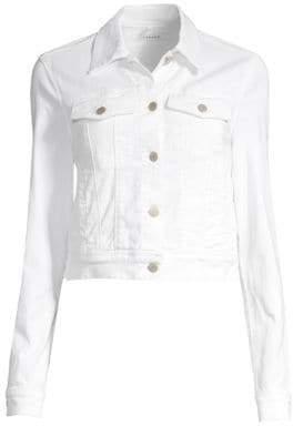 J Brand Harlow Shrunken Cropped Denim Jacket