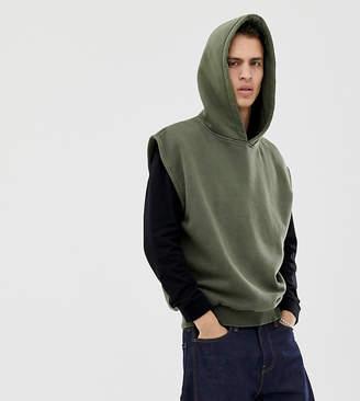 Reclaimed Vintage overdye sleeveless hoodie