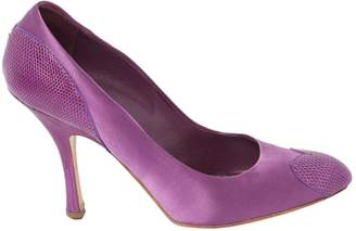 Louis Vuitton Purple Cloth Heels