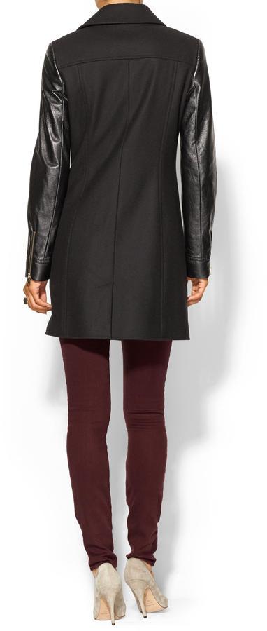 Ted Baker Alycia Leather Sleeve Coat