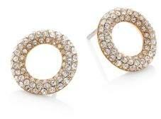 Michael Kors Brilliance Pave Crystal Stud Earrings/Goldtone