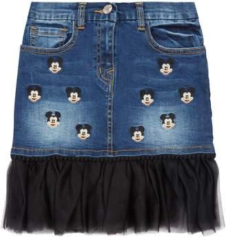 MonnaLisa Mickey Mouse Denim Skirt