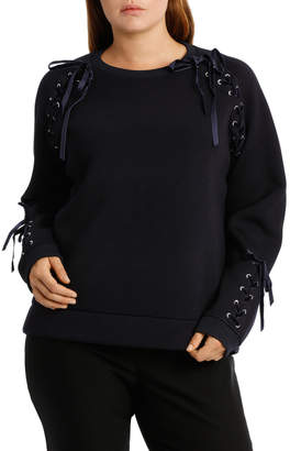 Sweat Top With Velvet Trim PPW18057