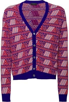 Prada jacquard V-neck cardigan