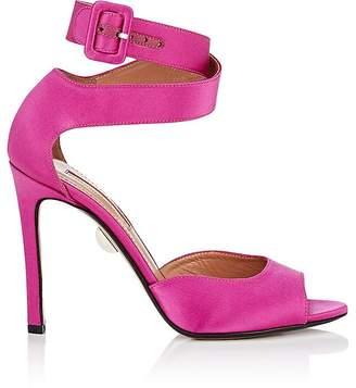 Samuele Failli Women's Jerry Satin Ankle-Wrap Sandals