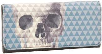 Loungefly LFWA0305 Skull With Pyramid Studs Trifold Wallet
