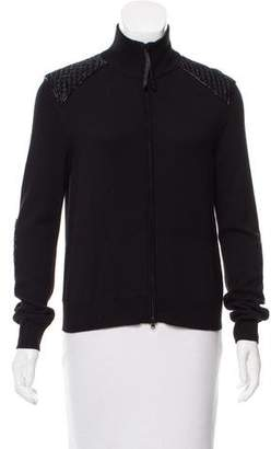 Valentino Embellished Wool-Cashmere Cardigan w/ Tags