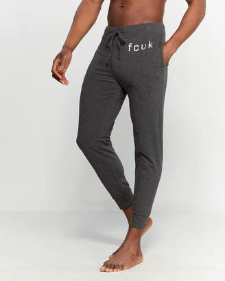 French Connection Charcoal Heather Logo Lounge Joggers