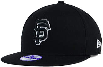 New Era Kids' San Francisco Giants Black White 9FIFTY Snapback Cap $24.99 thestylecure.com
