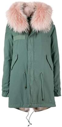 Mr & Mrs Italy short hooded parka coat