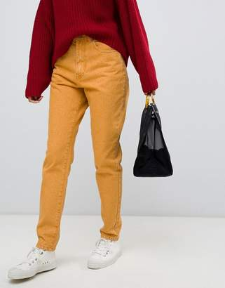 Dr. Denim nora high rise mom jean in yellow