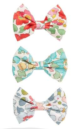 Milledeux Betsy 3-Piece Bows Hair Clip Set