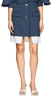 Ji Oh Women's Layered Stretch-Twill Skirt