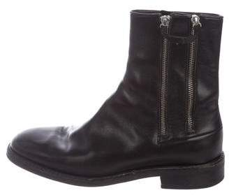Christian Dior Reflexion Leather Ankle Boots