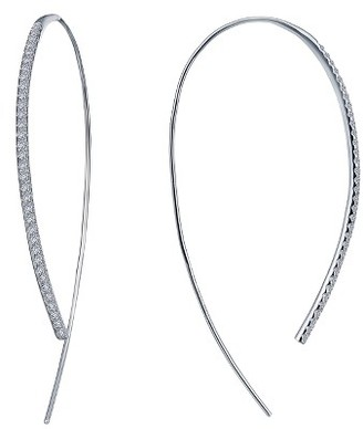 Women's Lafonn Open Hoop Threader Earrings $195 thestylecure.com