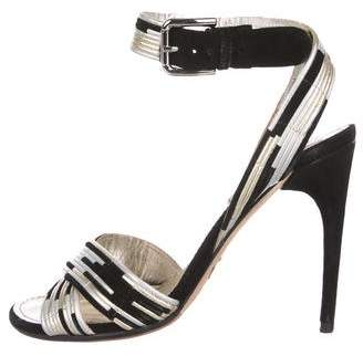 81a66ce62f8f9f Pre-Owned at TheRealReal. Dolce   Gabbana Metallic Ankle-Strap Sandals