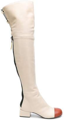 Marni over-the-knee zip boots