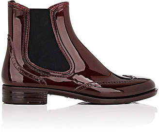 Barneys New York Women's Wingtip Rubber Rain Boots - Wine