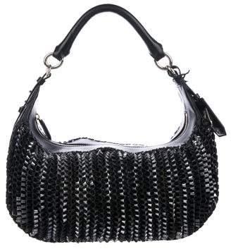 Diane von Furstenberg Metallic Woven Leather Sutra Hobo