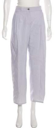 Chanel Pinstripe Wide-Leg Pants