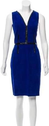 Jitrois Suede Sheath Dress