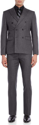 Michael Kors Two-Piece Grey Milled Chalk Stripe Suit