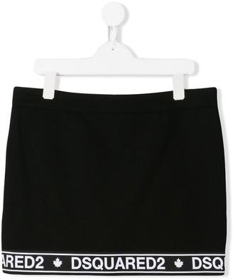 DSQUARED2 knitted logo skirt
