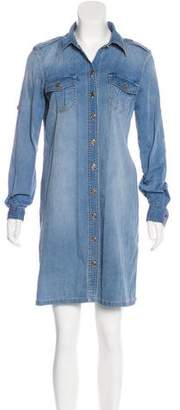 Tory Burch Denim Mini Shirtdress