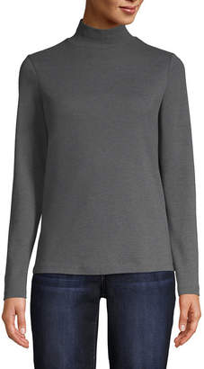 ST. JOHN'S BAY Long Sleeve Mock Neck Tee - Tall