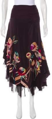 Amen Silk Midi Skirt