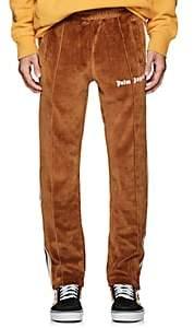 Palm Angels Men's Logo Cotton Velour Track Pants-Camel