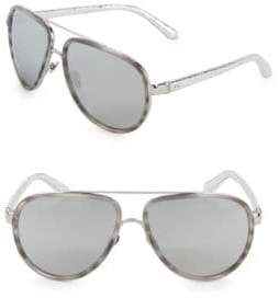 Linda Farrow Luxe Mist 61MM Aviators Sunglasses